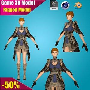 girl woman character 3D