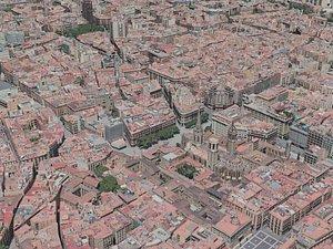 barcelona city 3D model