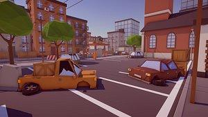 Low Poly FPS Map Vol1 3D model