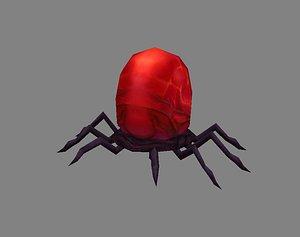 Cartoon animals - lice - blood-sucking ticks - spider 3D model