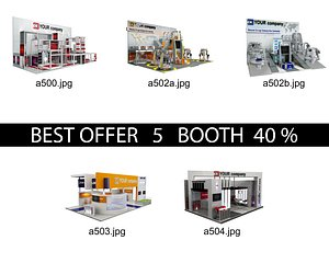 3D Booth Exhibition Stand c4 model