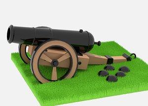 Medieval Cannon 3D