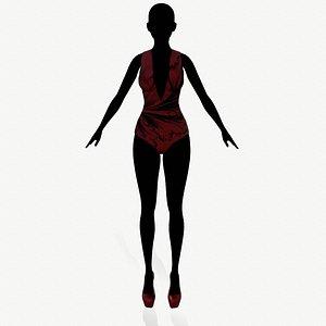 3D model fashion clothing swimsuit