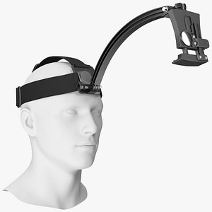 outdoor head band holder 3D model