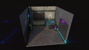 3D alley backdrop - neon model