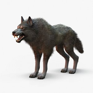 3D Wolf Rigged