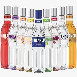 3D model finlandia original vodka