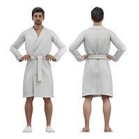 male in bathrobe