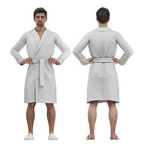3D male bathrobe model