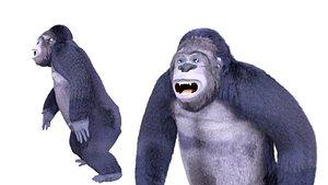 Cartoon Gorilla Animated blender 3D model