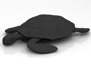 Loggerhead Sea Turtle 3D