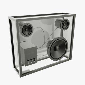 Transparent Speaker 3D model