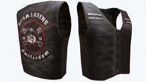 3D model biker vest