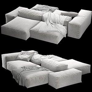 3D modular sofa extrasoft