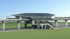 Light Rail Station 03 3D model