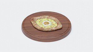 khachapuri bread cutting board model