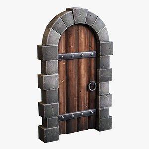 3D Stylized Castle Door model