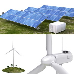 3D solar panel wind model