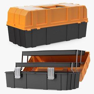 3D Three Layer Folding Plastic Toolbox Rigged