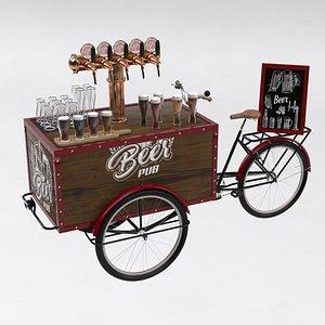 3D model beer bike