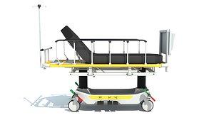 3D Medical Stretcher Trolley model