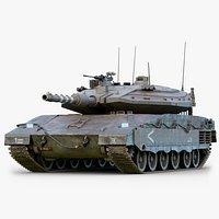 Rigged Merkava Mk4 GameReady LODs