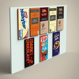 3D Chocolate Bars set