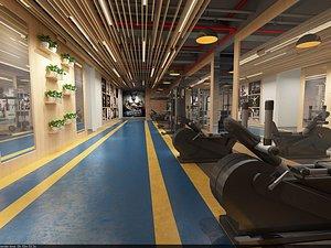 3D Gym exercise body exercise fitness equipment MeiTie equipment area treadmill model