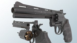 3D Colt Python 357 - PBR Low-poly model