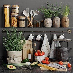 3D set kitchen s