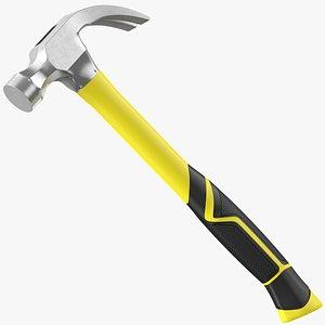 Fiberglass Claw Hammer 3D