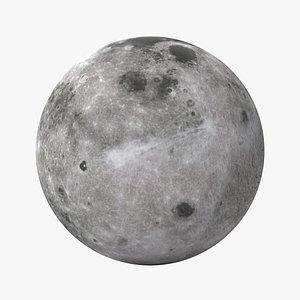 moon planet galaxy 3D model