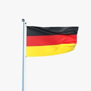 Animated Flag of Germany model