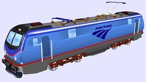 3D acs64 electric locomotive model