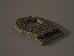 altar fireplace 3D model