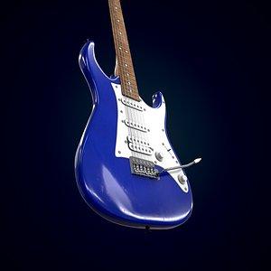 3D Electric guitar Homage HEG-340 model