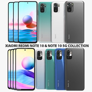 3D Xiaomi Redmi Note 10 and  Note 10 5G Collection model