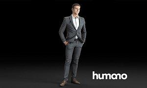Humano 3d People model - Businessman Man 01-01 3D model