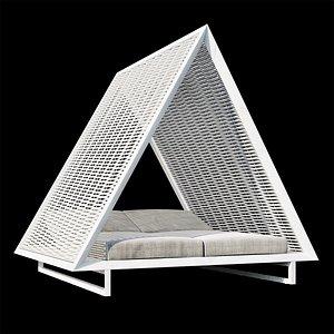3D Vondom Vineyard daybed model