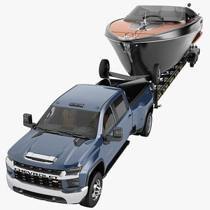 3D Chevrolet Silverado 3500 HD 2021 15 model