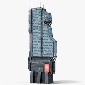 Sci-Fi Futuristic Skyscraper PBR 01 3D model