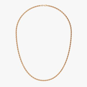 Chain Necklace NL009-0.8 3D model