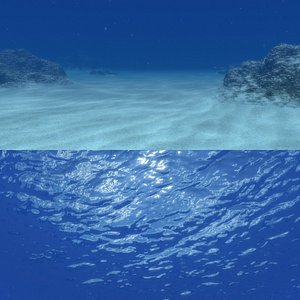 3d photorealistic water scene model