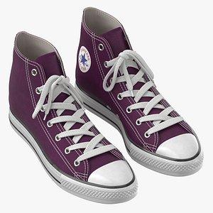 Basketball Shoes Purple 3D model