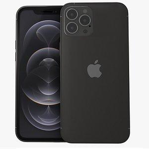 iphone 12 pro graphite 3D model