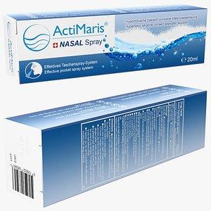 nasal spray box actimaris 3D model