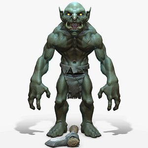 3D Troll Berserker