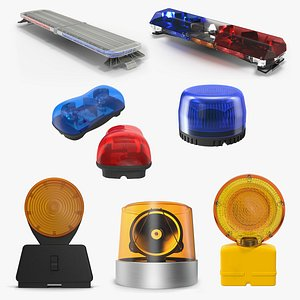 Emergency Warning Lights Collection 3 3D model