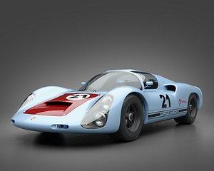 1966 Porsche 910 3D model