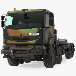 Renault Kerax 8x8 Heavy Utility Truck 3D model